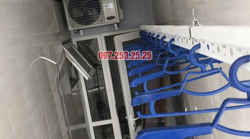 Lắp giàn phơi giá rẻ tại Đống Đa nhà anh Thúc căn 1712, CT2 Hoàng Cầu - 06