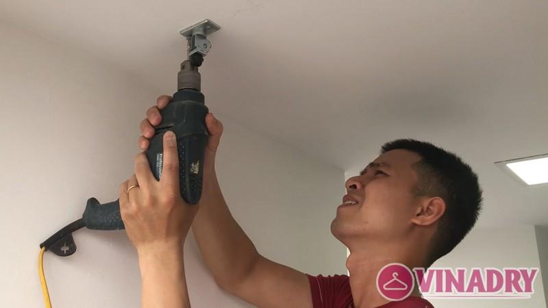 Lắp giàn phơi thông minh tại chung cư FLC Star Tower Hà Đông nhà chị Hải - 01