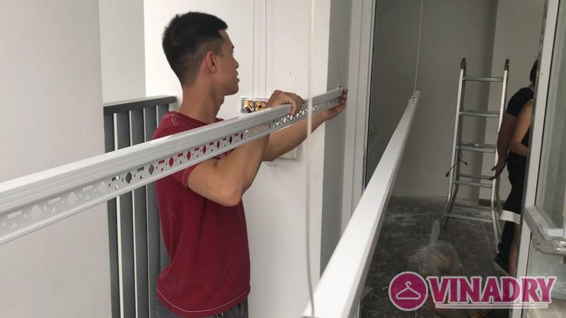 Lắp giàn phơi thông minh tại chung cư FLC Star Tower Hà Đông nhà chị Hải - 04