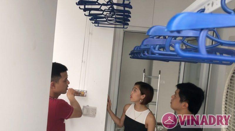 Lắp giàn phơi thông minh tại chung cư FLC Star Tower Hà Đông nhà chị Hải - 05