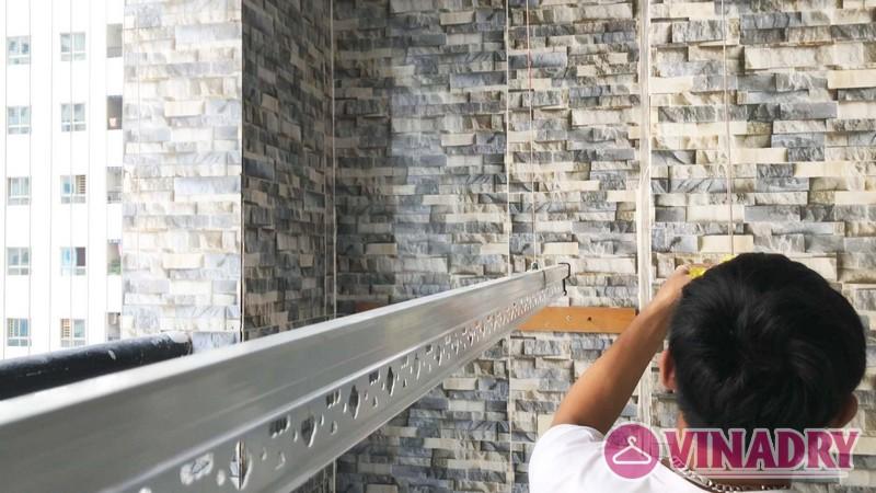Tháo - Lắp giàn phơi thông minh nhà chị Duyên, chung cư HH3A Linh Đàm - 05