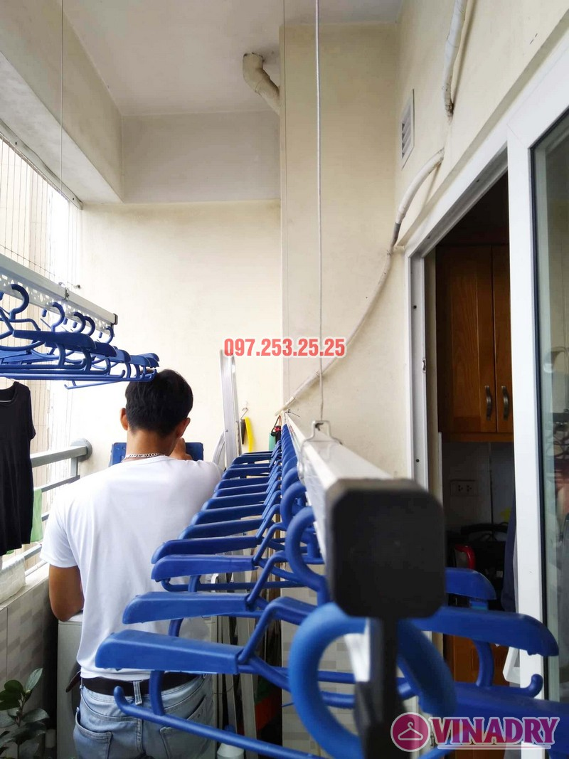Lắp giàn phơi HP701 nhà chú Đăng, chung cư Nam Đô Complex, 609 Trương Định - 01