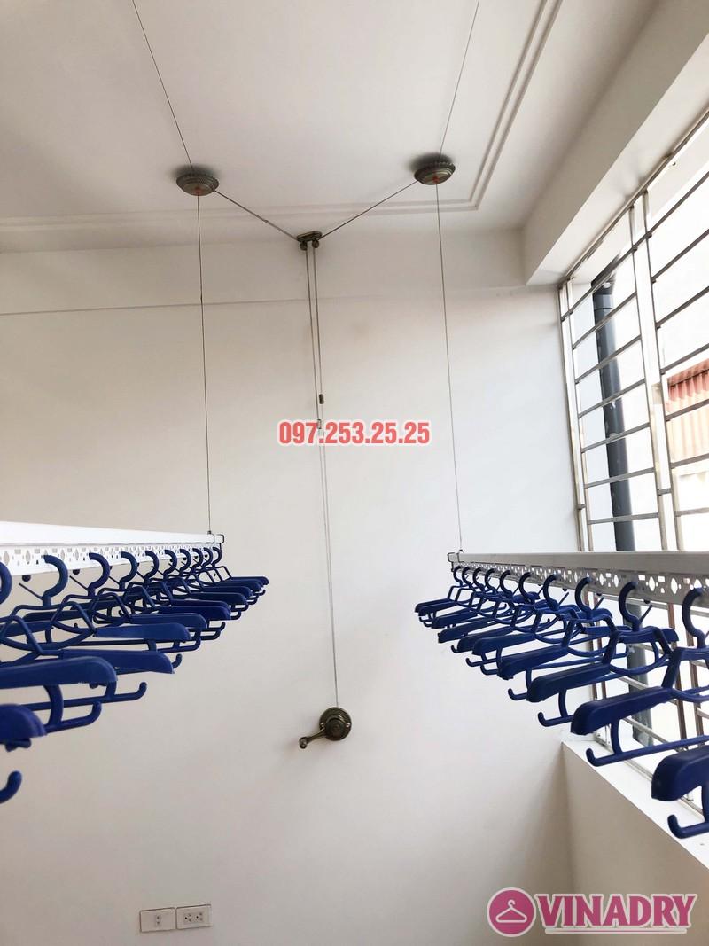 Lắp giàn phơi Vinadry gp902 nhà chị Ngân, số 10A6, KTT 918 Phúc Đồng, Long Biên - 01