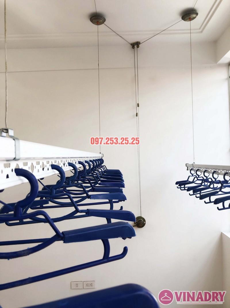 Lắp giàn phơi Vinadry gp902 nhà chị Ngân, số 10A6, KTT 918 Phúc Đồng, Long Biên - 02