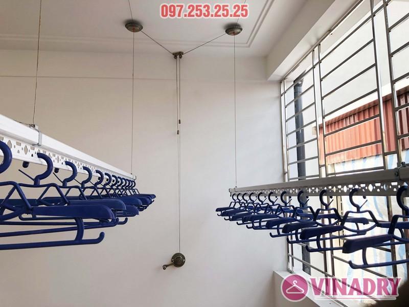 Lắp giàn phơi Vinadry gp902 nhà chị Ngân, số 10A6, KTT 918 Phúc Đồng, Long Biên - 03