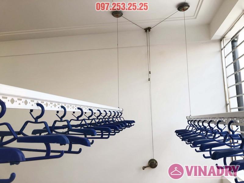 Lắp giàn phơi Vinadry gp902 nhà chị Ngân, số 10A6, KTT 918 Phúc Đồng, Long Biên - 04