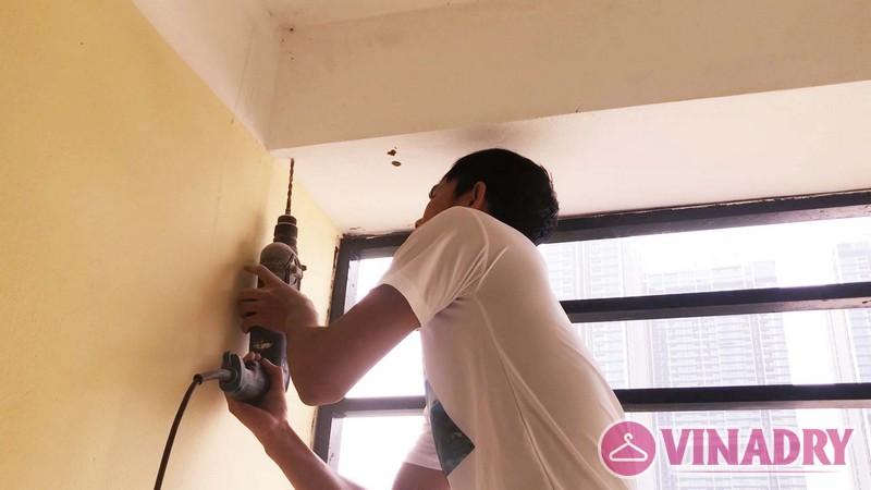 Lắp giàn phơi thông minh chung cư số 3 Vạn Phúc nhà cô Hoa bộ HP701- 03