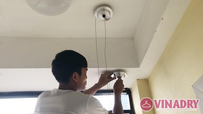 Lắp giàn phơi thông minh chung cư số 3 Vạn Phúc nhà cô Hoa bộ HP701- 05