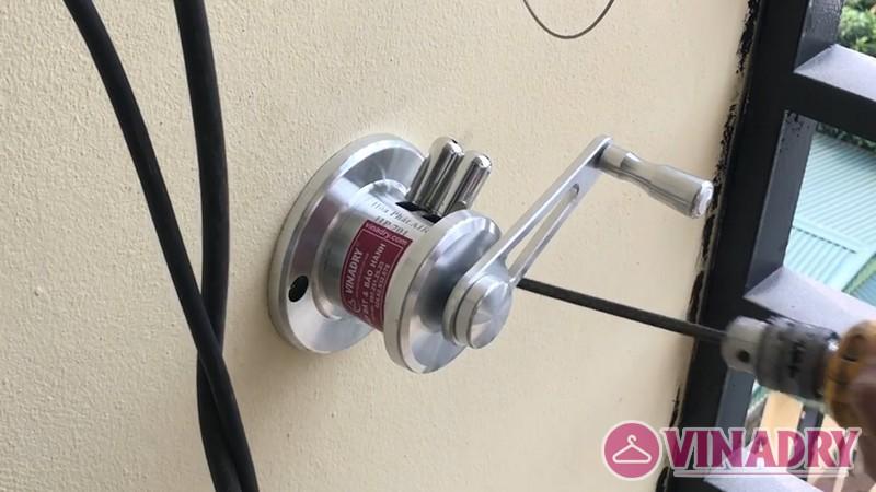 Lắp giàn phơi thông minh chung cư số 3 Vạn Phúc nhà cô Hoa bộ HP701- 07