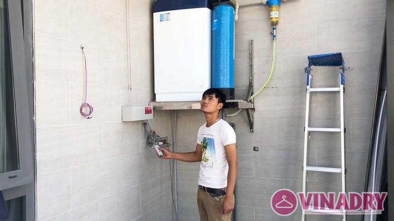 Lắp giàn phơi điện tự động nhà anh Cao, căn 2902 chung cư N04 Udic Complex Cầu Giấy - 04