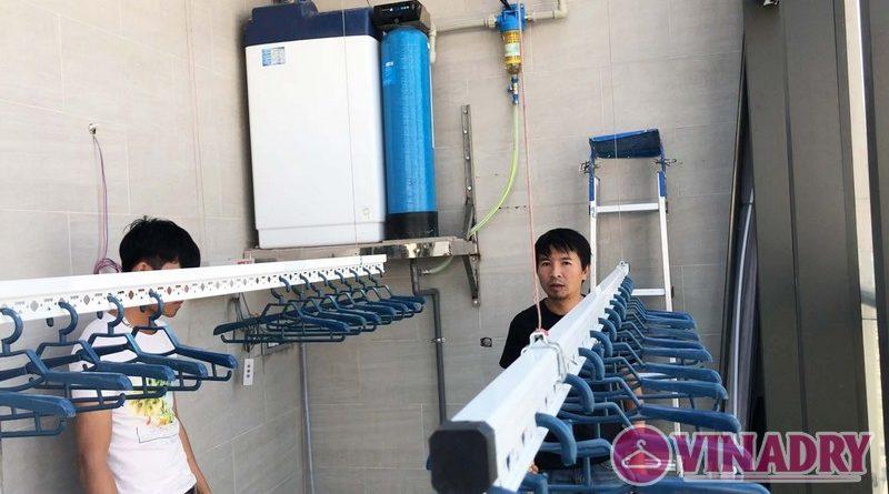 Lắp giàn phơi điện tự động nhà anh Cao, căn 2902 chung cư N04 Udic Complex Cầu Giấy - 05