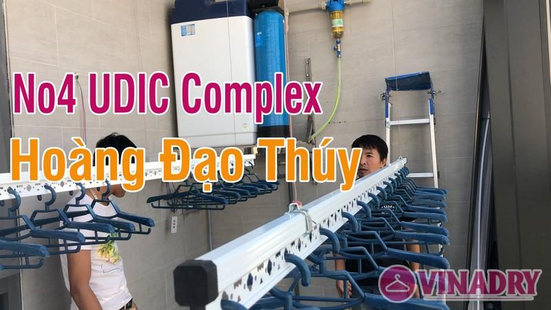 Lắp giàn phơi điện tự động nhà anh Cao, căn 2902 chung cư N04 Udic Complex Cầu Giấy - 01