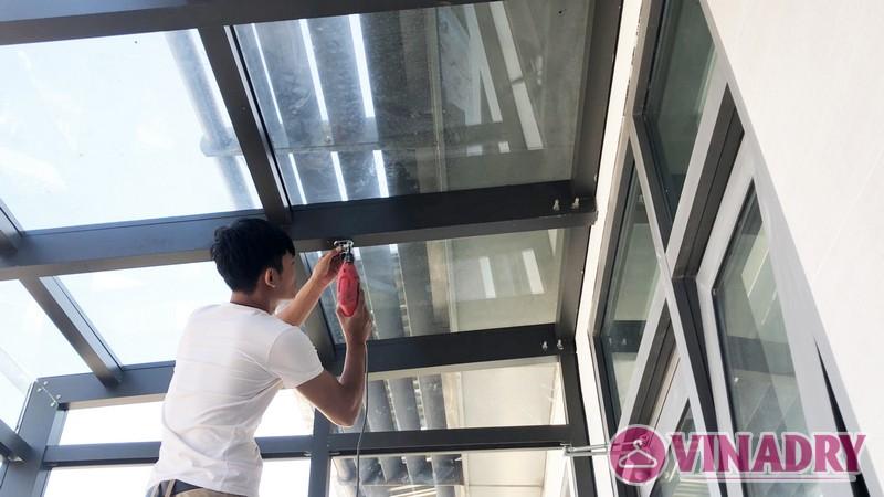 Lắp giàn phơi điện tự động nhà anh Cao, căn 2902 chung cư N04 Udic Complex Cầu Giấy - 02