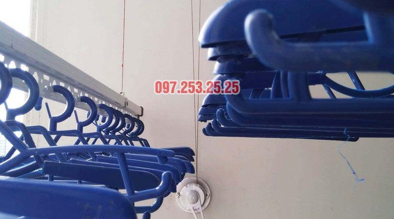 Lắp giàn phơi Hòa Phát tại Tây Hồ nhà chị Thảo, Tòa A chung cư Lạc Hồng Westlake - 04