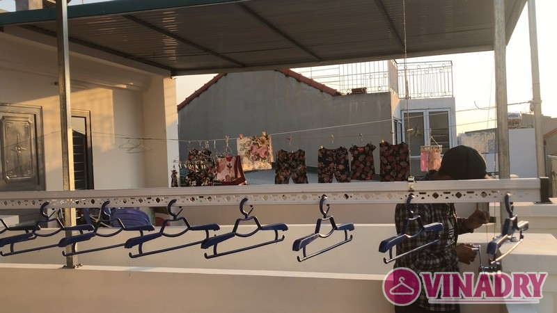 Bộ đôi giàn phơi Hòa Phát HP901 lắp tại nhà chị Mỹ, ngõ 219 Long Biên, Hà Nội - 06