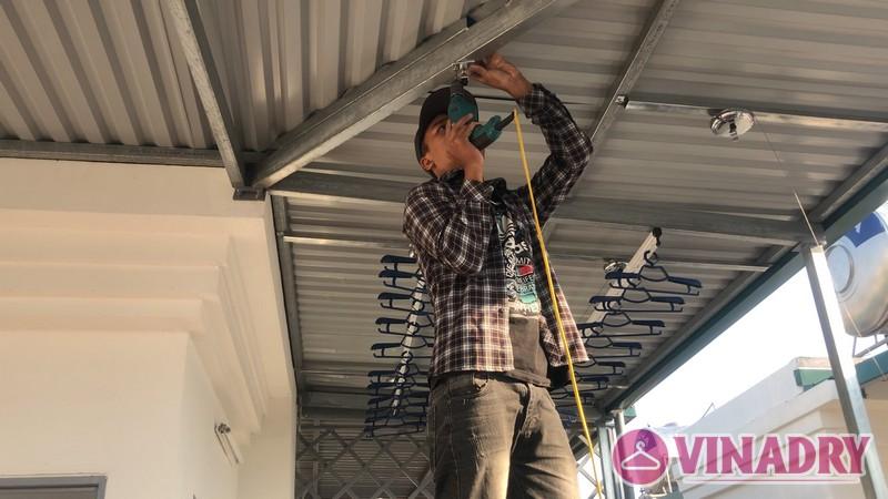 Bộ đôi giàn phơi Hòa Phát HP901 lắp tại nhà chị Mỹ, ngõ 219 Long Biên, Hà Nội - 02