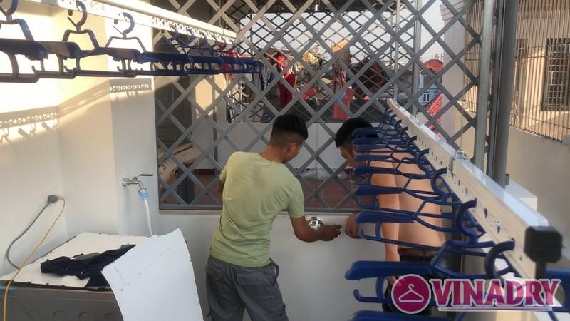 Lắp giàn phơi thông minh Long Biên bộ HP901 MỚI 2019 nhà anh Nam - 05