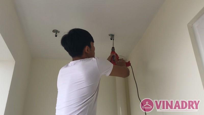 Lắp giàn phơi thông minh KS950 nhà anh Ngọc, chung cư CT7 BooYoung Vina Hà Đông - 01
