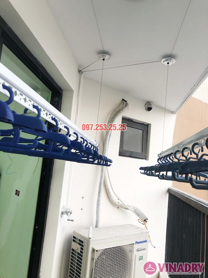 Lắp giàn phơi thông minh, lưới an toàn chung cư Golden Field Mỹ Đình nhà chị Hồng - 02