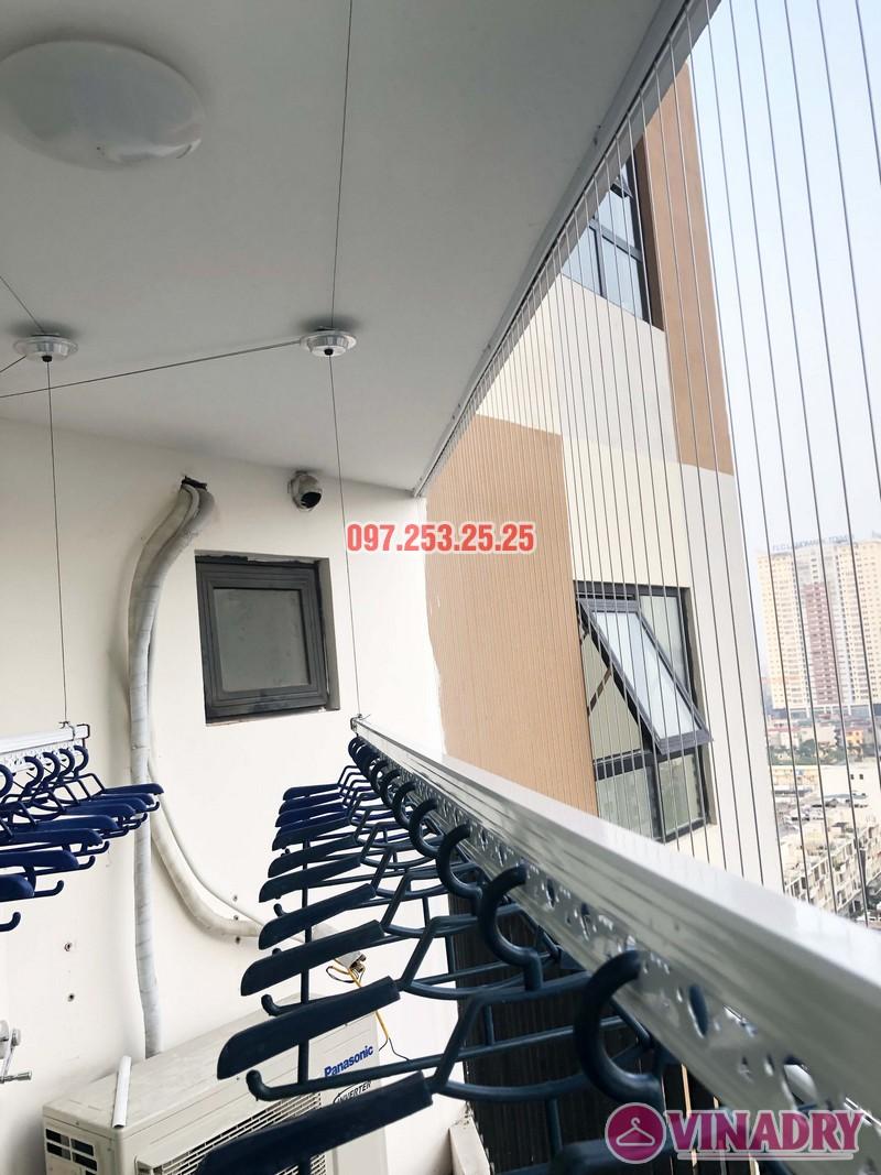 Lắp giàn phơi thông minh, lưới an toàn chung cư Golden Field Mỹ Đình nhà chị Hồng - 03