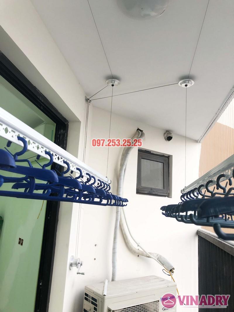 Lắp giàn phơi thông minh, lưới an toàn chung cư Golden Field Mỹ Đình nhà chị Hồng - 04