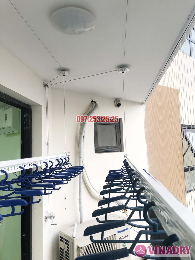 Lắp giàn phơi thông minh, lưới an toàn chung cư Golden Field Mỹ Đình nhà chị Hồng - 07