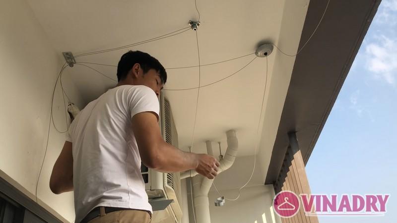 Lắp giàn phơi điện tự động giá rẻ nhà anh Khoa, Tòa CT1, chung cư Mỹ Đình Plaza - 02