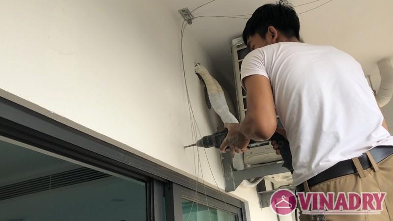 Lắp giàn phơi điện tự động giá rẻ nhà anh Khoa, Tòa CT1, chung cư Mỹ Đình Plaza - 03