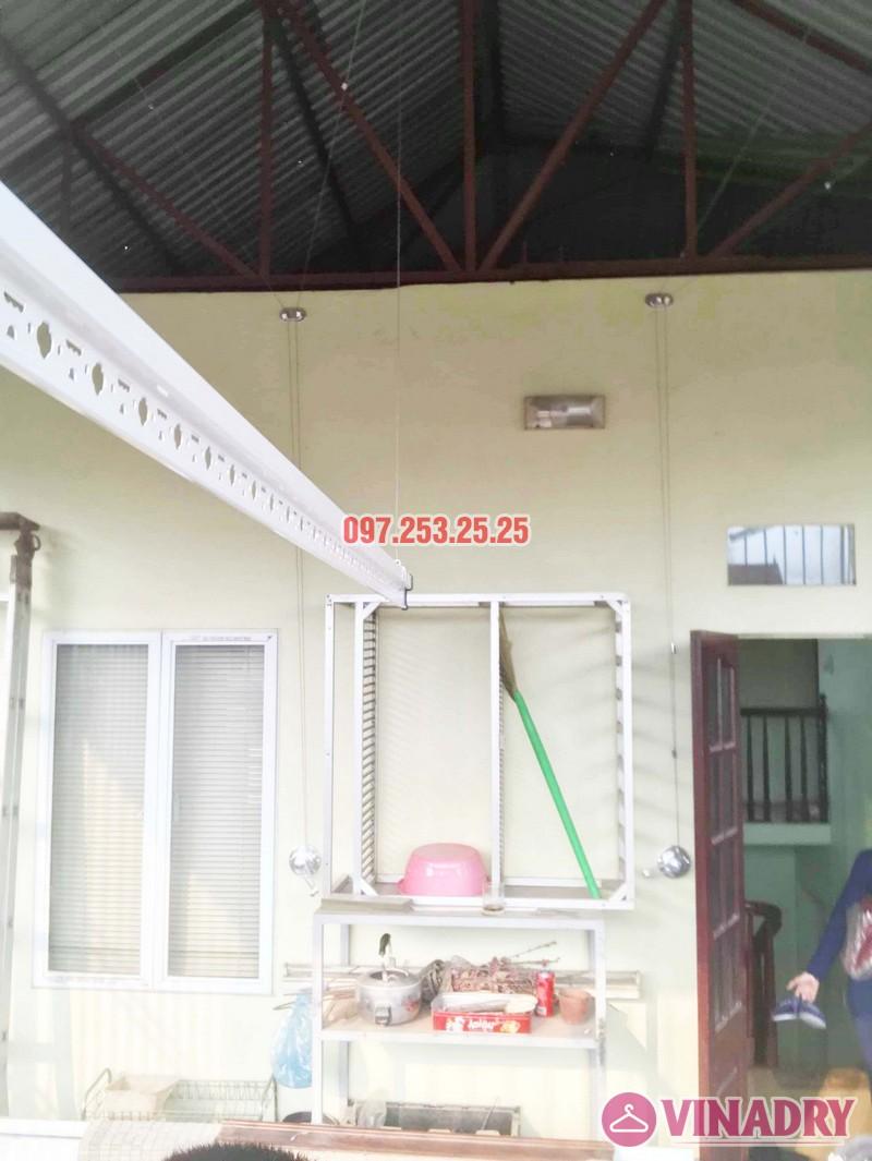 Cách lắp giàn phơi thông minh cho trần mái tôn nhà cô Hảo, Hà Đông, Hà Nội - 07