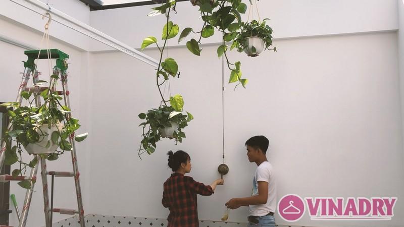 Lắp giàn phơi làm giàn treo hoa độc đáo tại Hà Đông nhà chị Hà, ngõ 63 Vạn Phúc - 01