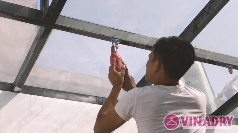 Lắp giàn phơi làm giàn treo hoa độc đáo tại Hà Đông nhà chị Hà, ngõ 63 Vạn Phúc - 02