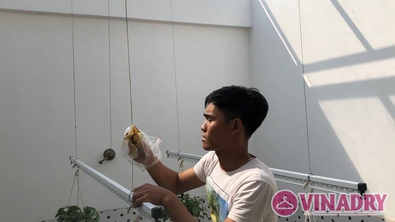 Lắp giàn phơi làm giàn treo hoa độc đáo tại Hà Đông nhà chị Hà, ngõ 63 Vạn Phúc - 05