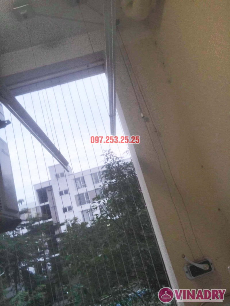 Sửa giàn phơi thông minh bị đứt dây cáp tại KĐT Đặng Xá, Gia Lâm, Hà Nội - 03