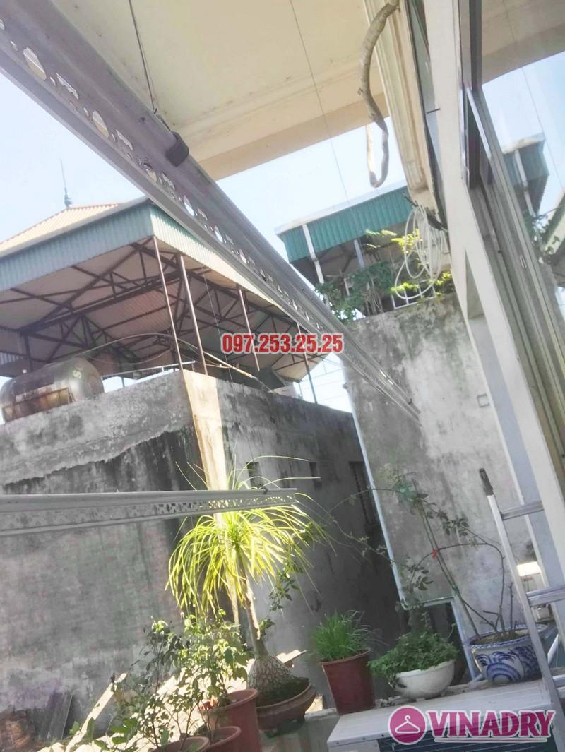 Sửa giàn phơi thông minh giá rẻ tại Gia Lâm, Hà Nội nhà chị Hảo - 01