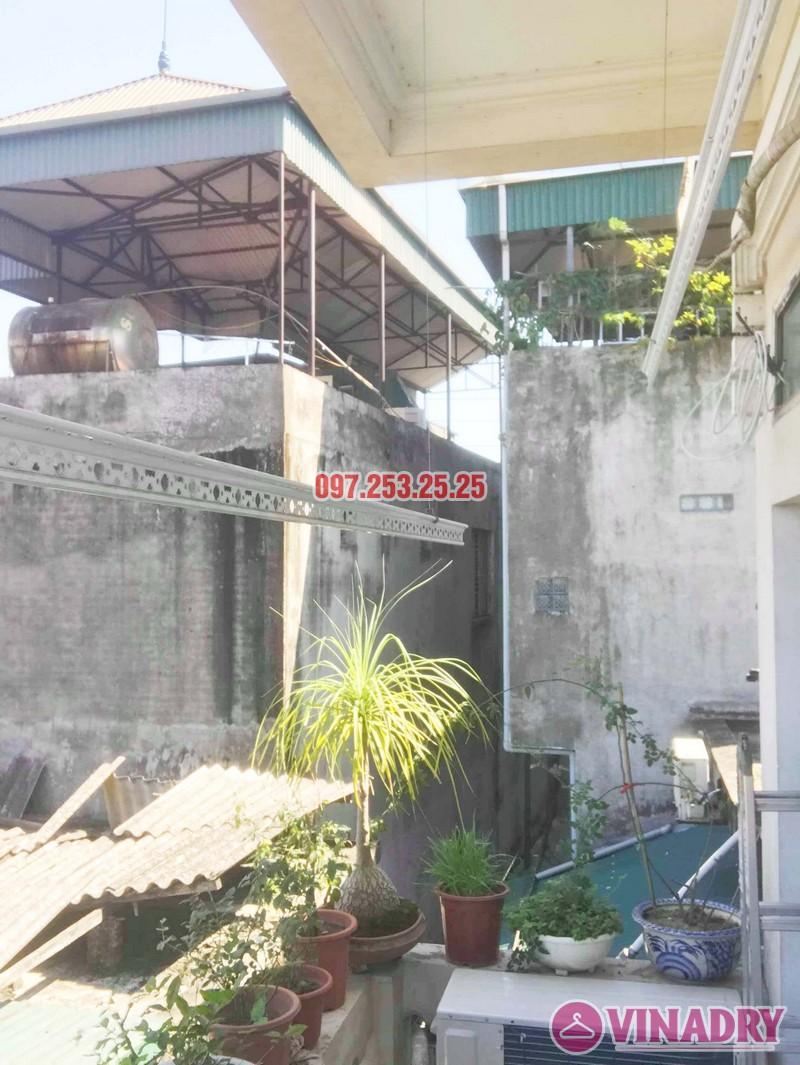 Sửa giàn phơi thông minh giá rẻ tại Gia Lâm, Hà Nội nhà chị Hảo - 05