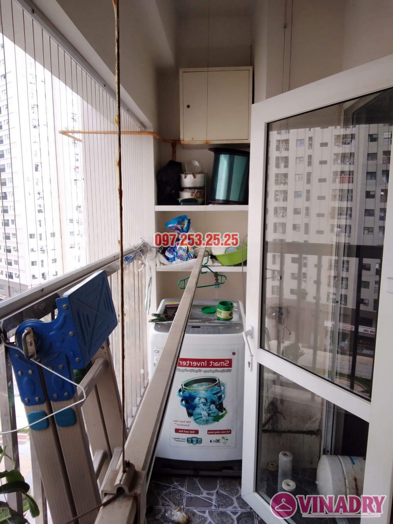 Sửa giàn phơi thông minh tại Hà Đông nhà anh Dũng, căn 707, chung cư HH2E Dương Nội - 02