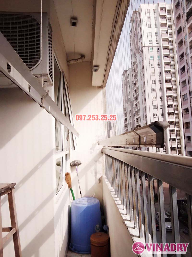 Sửa giàn phơi tại chung cư CT2 Hoàng Văn Thái, Thanh Xuân, Hà Nội nhà chị Trà - 02