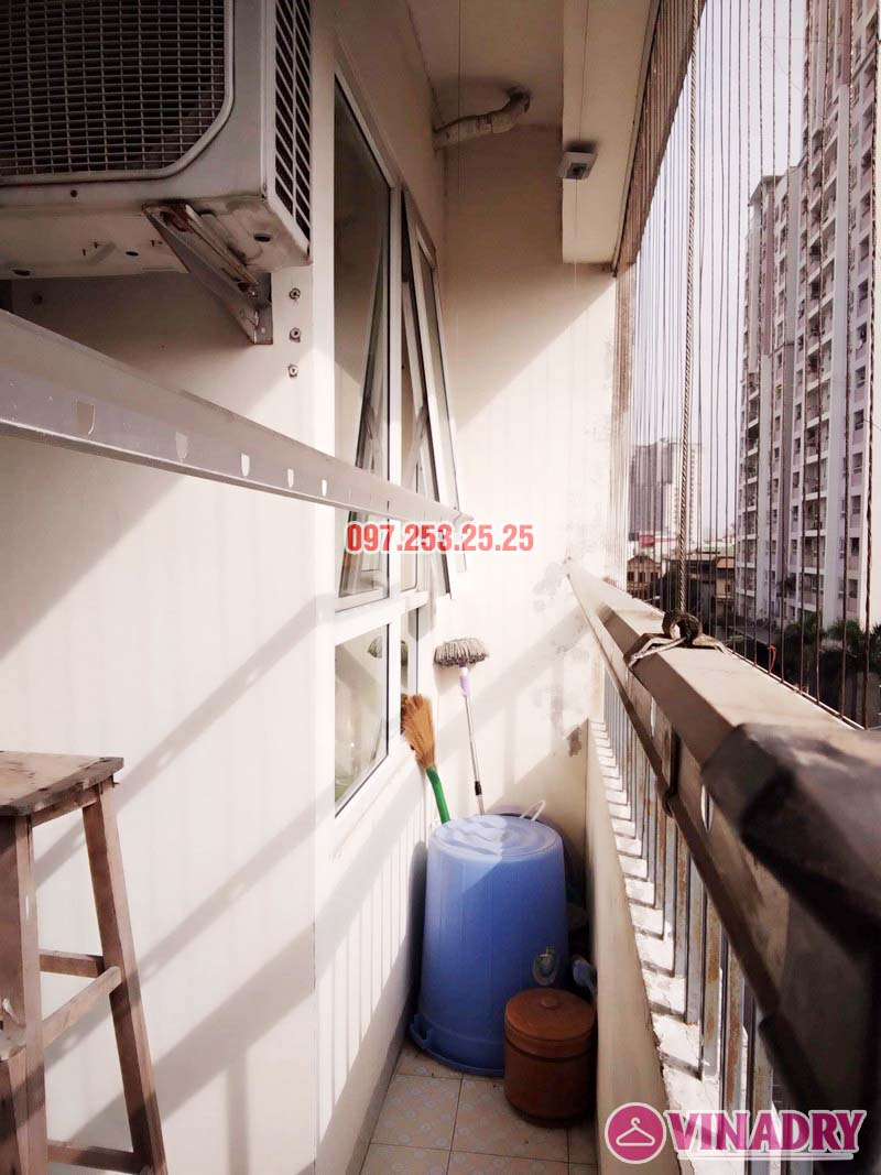 Sửa giàn phơi tại chung cư CT2 Hoàng Văn Thái, Thanh Xuân, Hà Nội nhà chị Trà - 04
