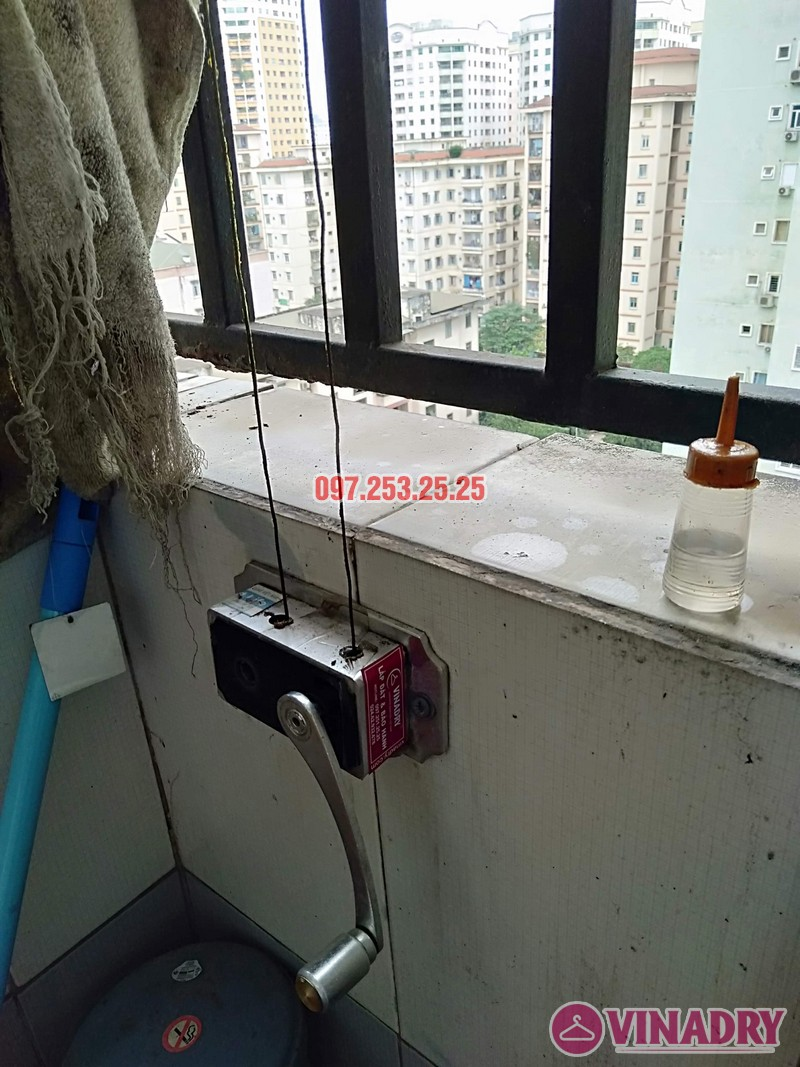 Sửa giàn phơi tại chung cư Star Tower, 283 Khương Trung, Thanh Xuân, Hà Nội nhà chị Nga - 07