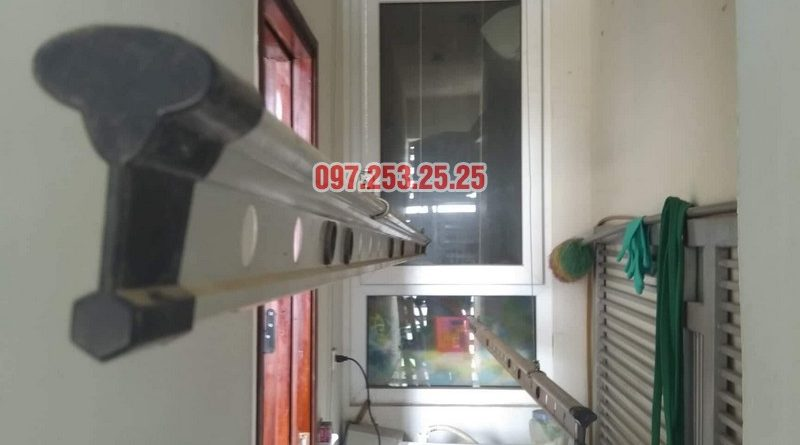 Sửa giàn phơi quần áo tại Nam Từ Liêm nhà chị Hậu, căn 1503, CT2, chung cư Dream Tower - 04