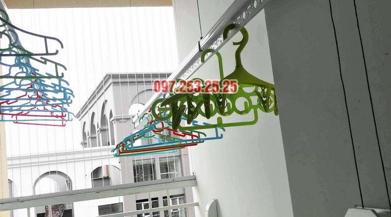 Thay dây giàn phơi thông minh giá rẻ tại Hà Nội nhà anh Kiên, KĐT Việt Hưng - 07