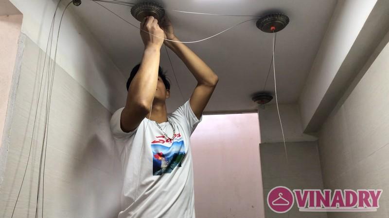 Bộ giàn phơi thông minh tốt nhất 2019 lắp tại nhà chị Hà, Từ Liêm, Hà Nội - 03