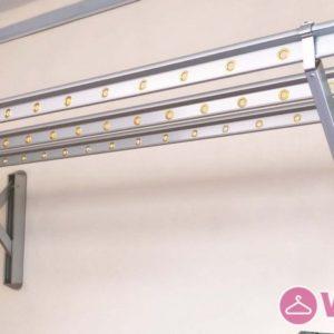 Lắp giàn phơi gắn tường cao cấp Hòa Phát tại Long Biên nhà chị Tiên - 02