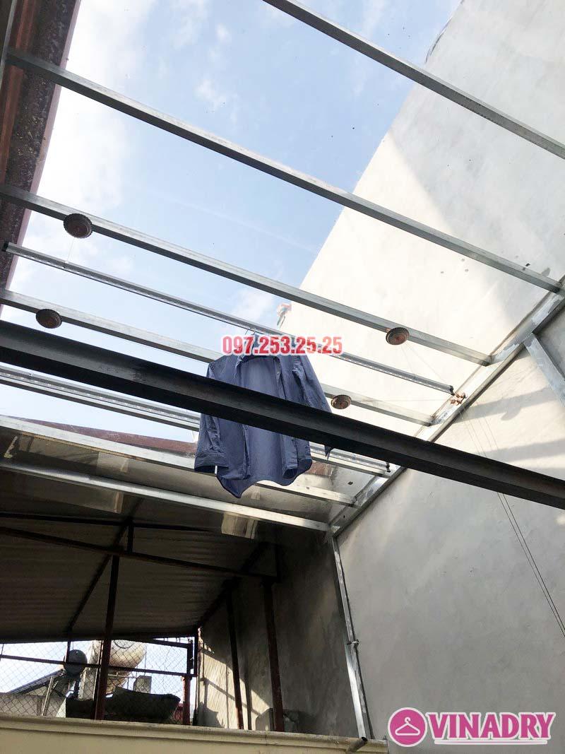 Lắp giàn phơi Ba Đình bộ VINADRY GP903 nhà anh Tiến, ngõ 60 Linh Lang - 02