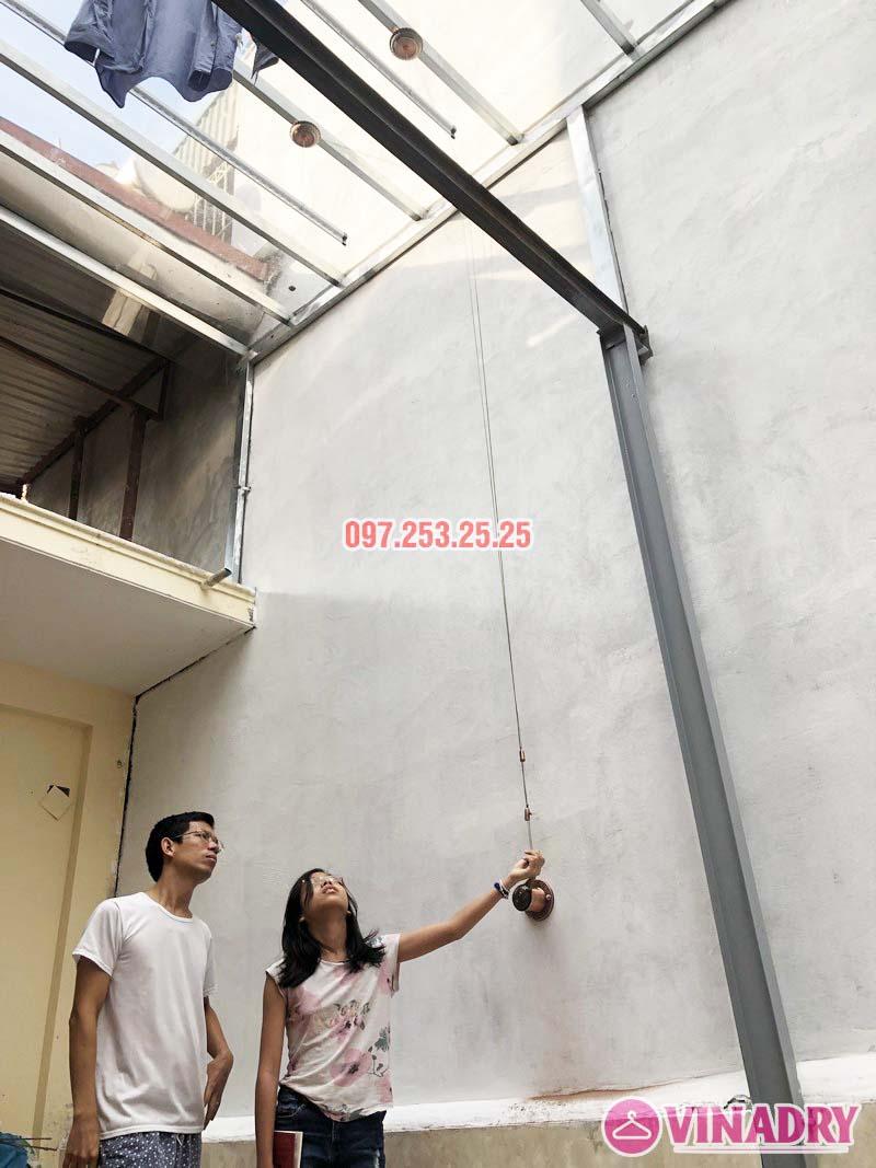 Lắp giàn phơi Ba Đình bộ VINADRY GP903 nhà anh Tiến, ngõ 60 Linh Lang - 03