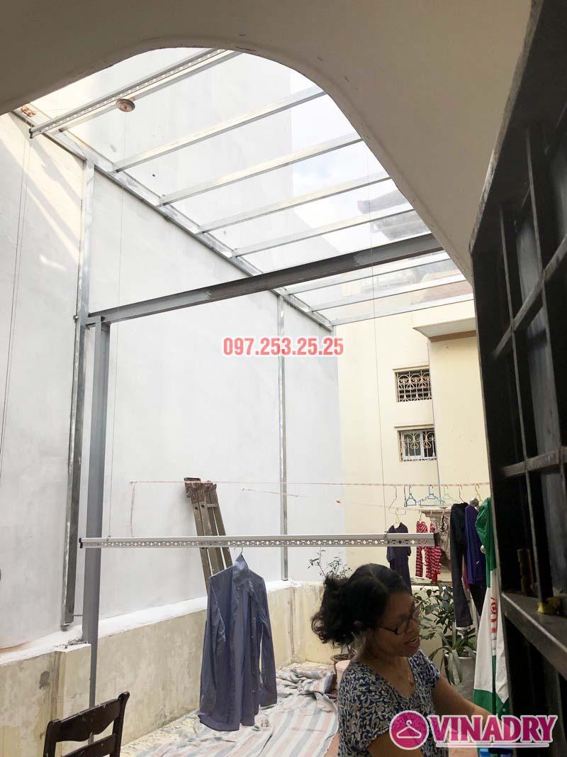 Lắp giàn phơi Ba Đình bộ VINADRY GP903 nhà anh Tiến, ngõ 60 Linh Lang - 04