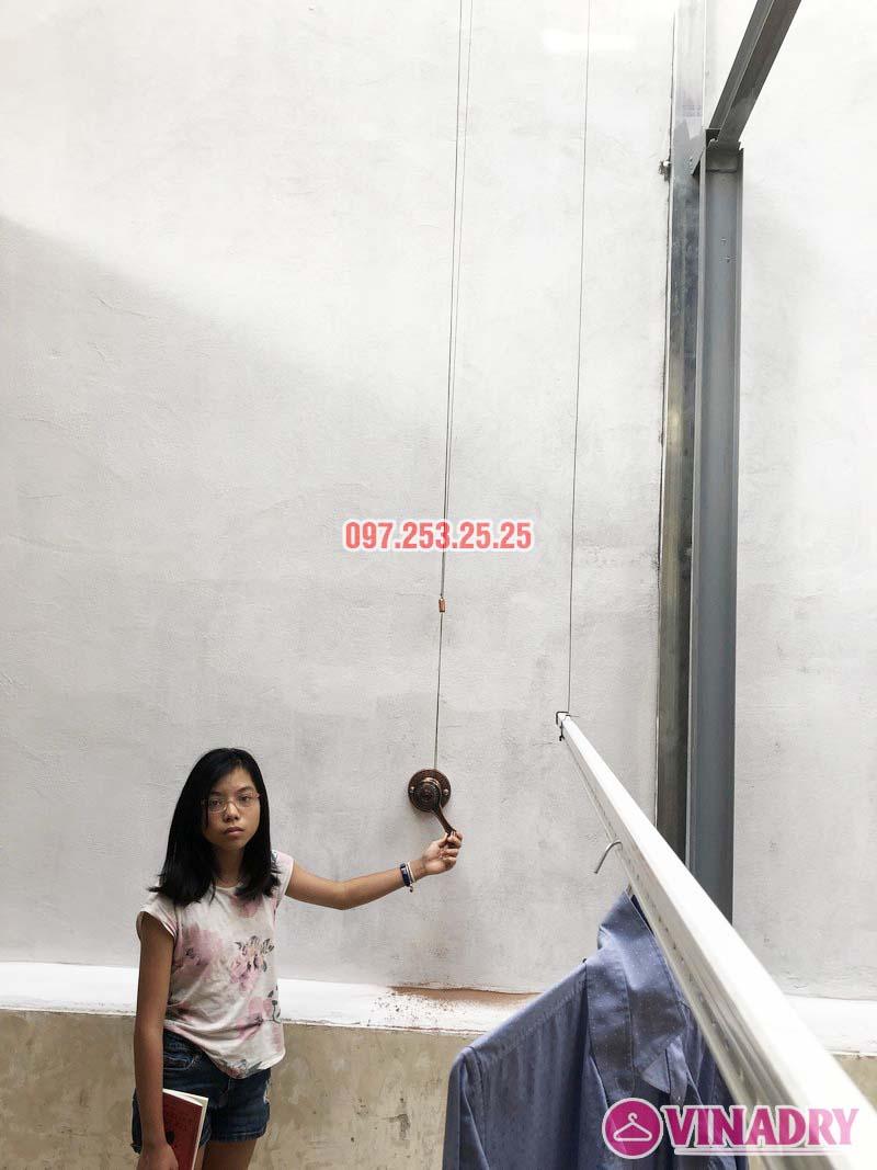 Lắp giàn phơi Ba Đình bộ VINADRY GP903 nhà anh Tiến, ngõ 60 Linh Lang - 05