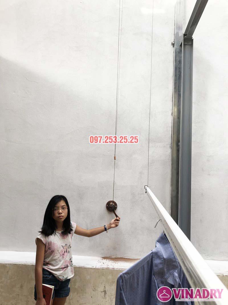 Lắp giàn phơi Ba Đình bộ VINADRY GP903 nhà anh Tiến, ngõ 60 Linh Lang - 06
