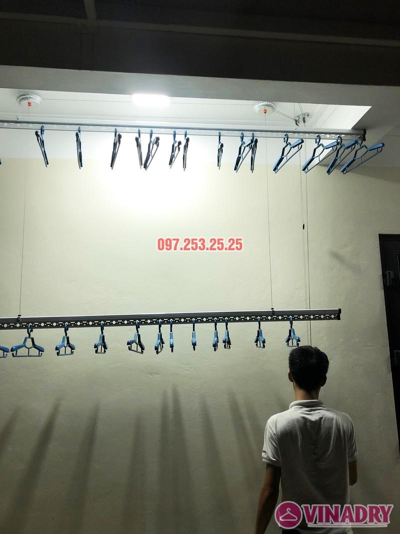 Lắp giàn phơi thông minh cao cấp tại nhà anh Tiến, ngõ 11 Việt Hưng, Long Biên - 01