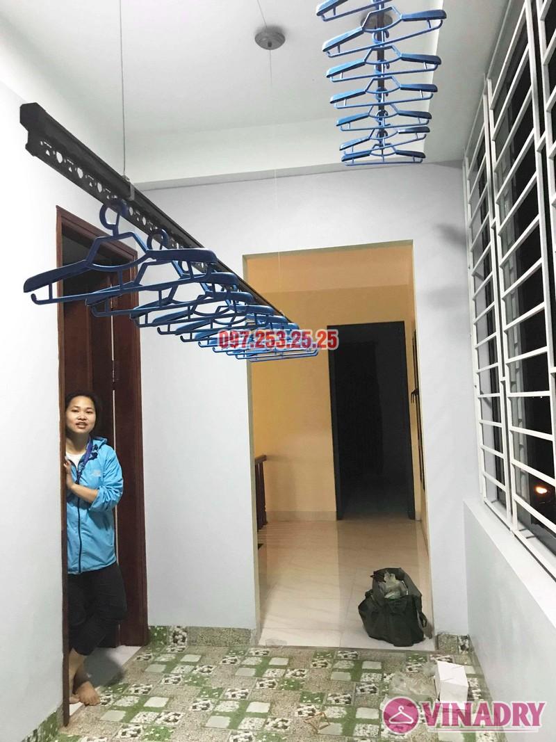 Lắp giàn phơi cao cấp Vinadry, mẫu mới 2019 nhà chị Hạ, Gia Lâm, Hà Nội - 01